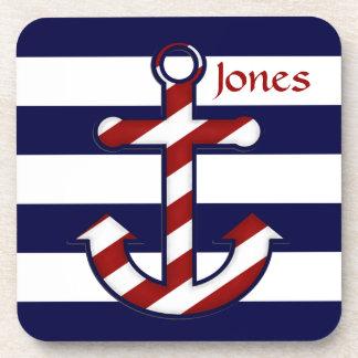 Nautical Anchor Cork Coasters