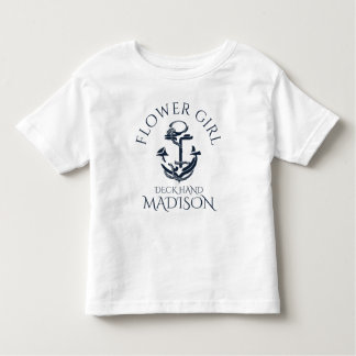 Nautical Anchor Crew Flower Girl Shirts