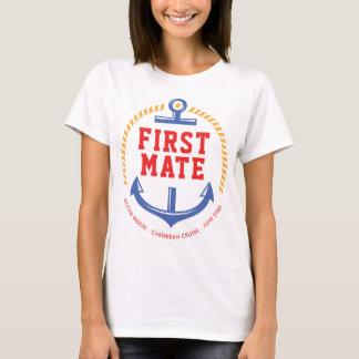 Nautical Anchor Custom Text Ocean Cruise T-Shirt