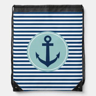 Nautical anchor drawstring backpack | sailing bags