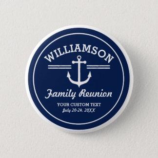 Nautical Anchor Family Reunion Trip Cruise Beach 6 Cm Round Badge