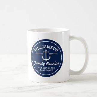 Nautical Anchor Family Reunion Trip Cruise Beach Coffee Mug
