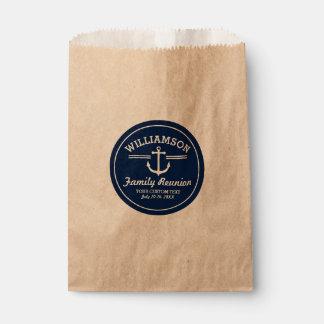 Nautical Anchor Family Reunion Trip Cruise Beach Favour Bags