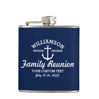 Nautical Anchor Family Reunion Trip Cruise Beach Flasks