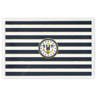 Nautical Anchor in Navy & Gold