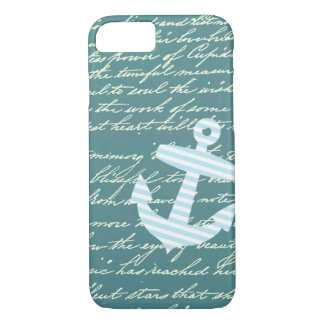 Nautical anchor in turquoise teal iPhone 7 case