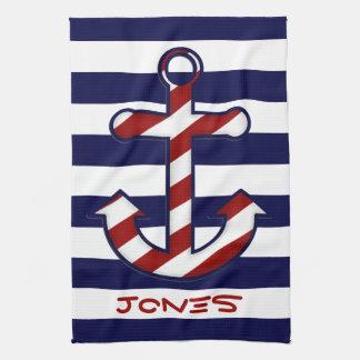 Nautical Anchor Kitchen Towel