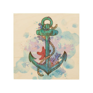 nautical anchor mermaid party decor wall art