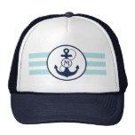 Nautical Anchor Monogram Cap