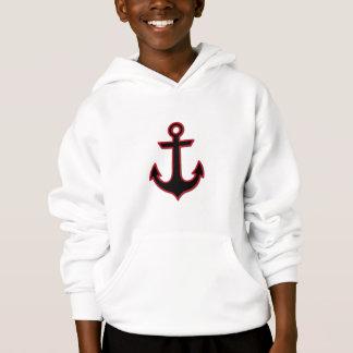Nautical Anchor (Naval Anchor) - Black Red