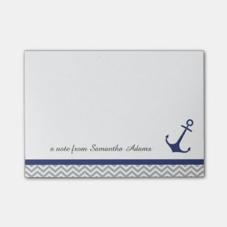 Nautical Anchor Navy Blue Notes