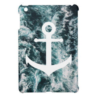 Nautical anchor on ocean photo background iPad mini cover