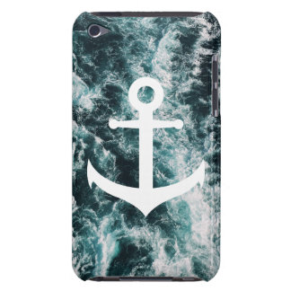 Nautical anchor on ocean photo background iPod touch cover