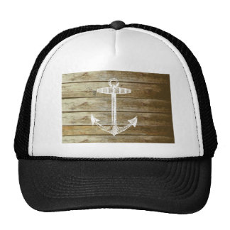 Nautical Anchor on wood graphic Cap