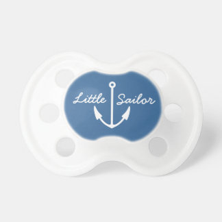 Nautical anchor pacifier | navy blue baby soother