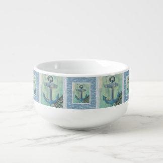 Nautical Anchor Pattern Soup Mug