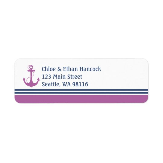 Nautical Anchor Return Address Label