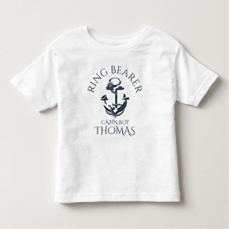 Nautical Anchor Ring Bearer Toddler T-Shirt