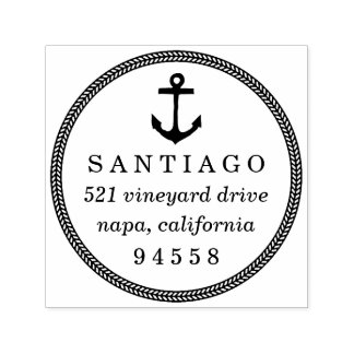 Nautical Anchor & Rope Return Address Stamp