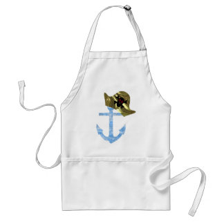 Nautical Anchor & Sailor Skull Hat Standard Apron