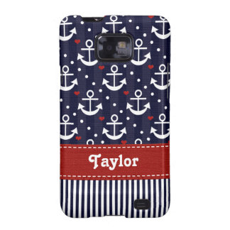 Nautical Anchor Samsung Galaxy S Case Cover Red Ri Samsung Galaxy SII Cases