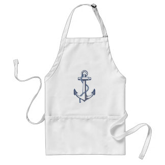 Nautical Anchor Standard Apron