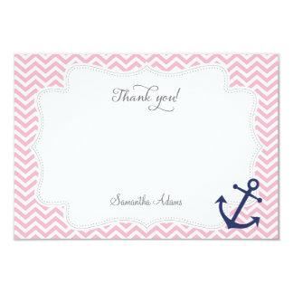 Nautical Anchor Thank You Card 9 Cm X 13 Cm Invitation Card