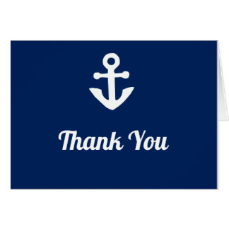 Nautical Anchor Thank You Notes