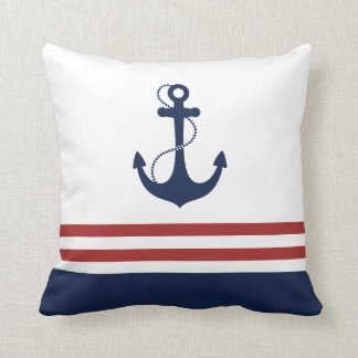 Nautical Anchor Throw Cushion