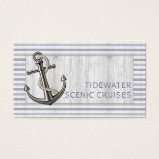 Nautical Anchor w/Rope Business Card