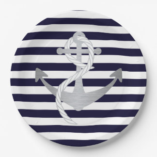 Nautical Anchor Wedding Birthday or Shower Plates