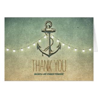 Nautical Anchor Wedding Thank You Note Card