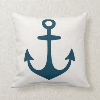 Nautical Anchors Ocean Cotton Pillow