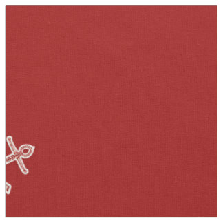 Nautical Anchors on Red Fabric