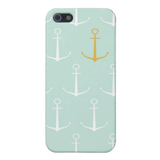Nautical anchors preppy girly blue anchor pattern case for iPhone 5/5S