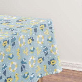 Nautical Aquatic Design Tablecloth