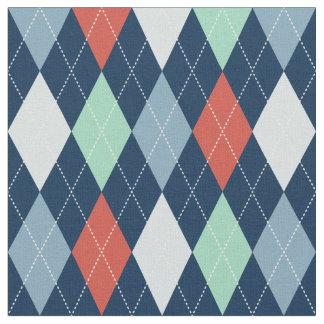 Nautical Argyle Fabric
