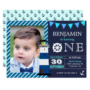 Baby Boy 1st Birthday Invitations Zazzle Com Au