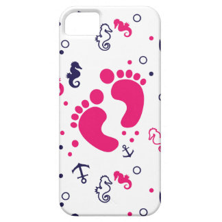 Nautical baby girl pink, navy blue iPhone 5 covers