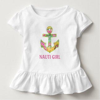 Nautical Baby Ruffled tee shirt