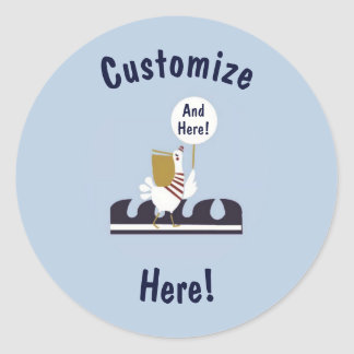 Nautical Baby Shower Customize Ocean Scene Sticker