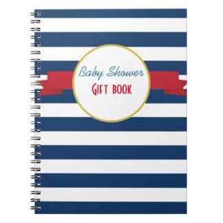Nautical Baby Shower gift book. Notebooks