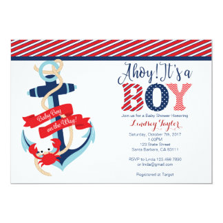 Nautical Baby Shower Invitation for Boy