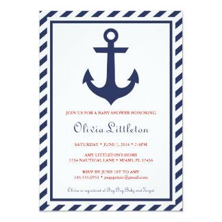 Nautical Baby Shower Invitations - Ahoy It's a Boy