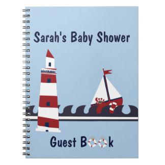 Nautical Baby Shower Ocean Scene Guest Book