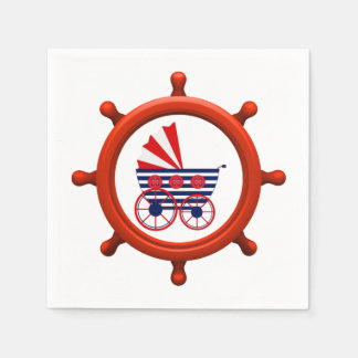 Nautical Baby Shower Paper Napkin