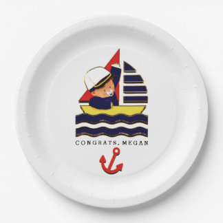 Nautical Baby Shower Paper Plate
