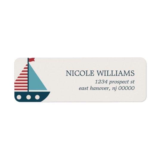 Nautical Baby Shower Return Address Label