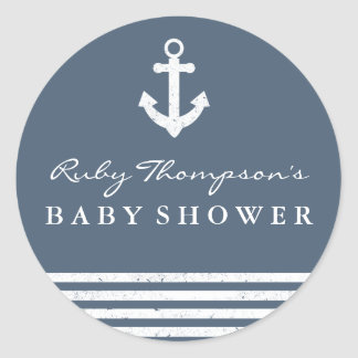 Nautical Baby Shower Sticker