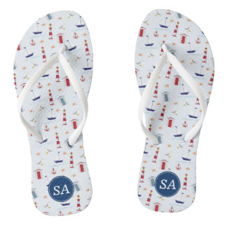 Nautical Back to School & Dorm Essentials Thongs